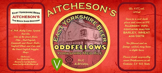 AITCHESONS Oddfellows yorkshire red ale.