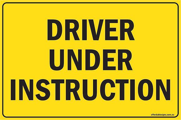 Driver Under Instruction Metal Sign