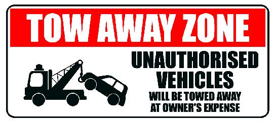 No Parking Tow Away Metal Sign 500x225 mm
