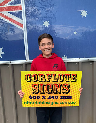 Corflute Signs - Yard Plastic Signs 600x450mm
