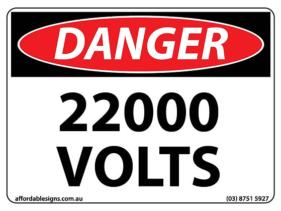 Danger 22000 Volts