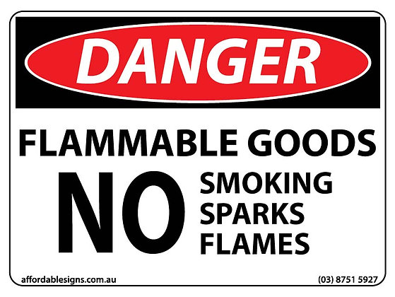 Danger Flammable Goods