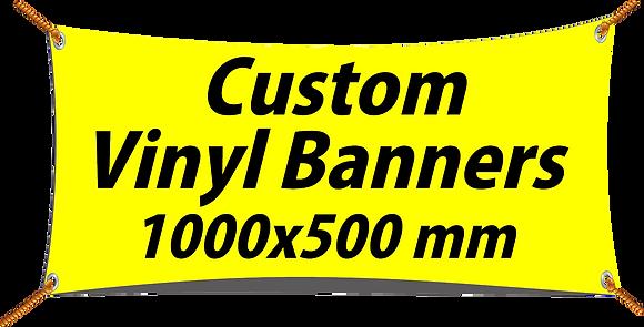 Custom PVC Vinyl Banner 1000x500mm