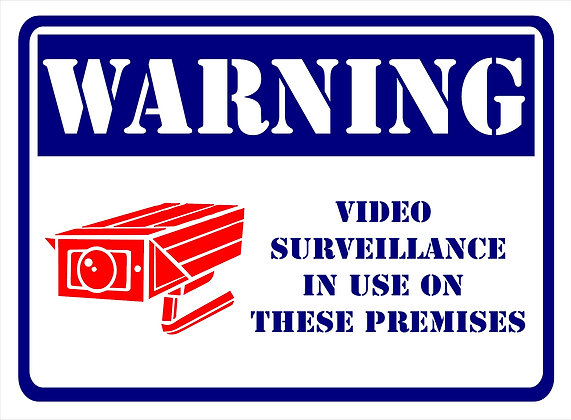 Warning Video Surveillance CCTV 600x450 mm