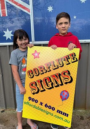 Corflute Signs - Yard Plastic Signs 600x900mm