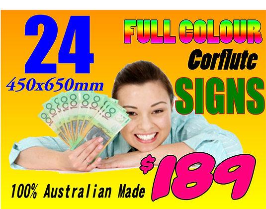 (24) Twenty Four Corflute Signs 600x450mm