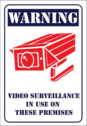 Warning Video Surveillance CCTV Metal Sign 300x450