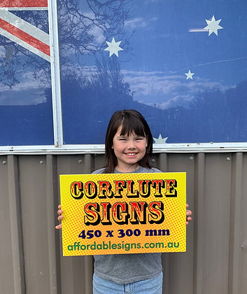 Corflute Signs - Yard Plastic Signs 450x300mm