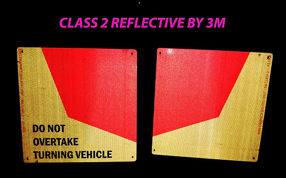 Do Not Overtake Turning Vehicle Reflective Side Marker Sticker