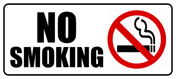 No Smoking Metal Sign 500x225mm