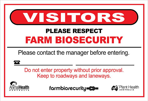 Biosecurity Farm 450x300mm