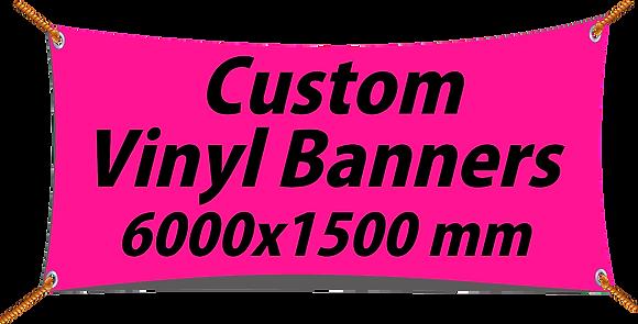 Custom PVC Vinyl Banner 6000x1500mm