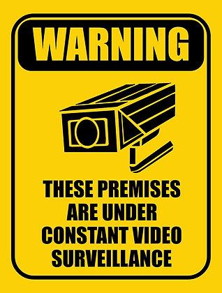 Warning Video Surveillance CCTV Metal Sign 450x600