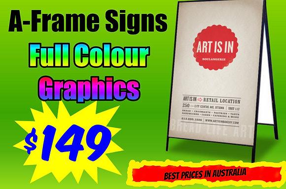 Metal A-Frame Sign 900x600mm