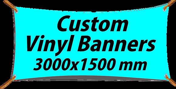 Custom PVC Vinyl Banner 3000x1500mm