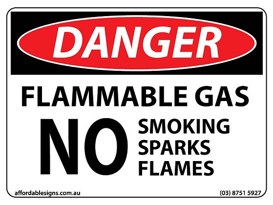 Danger Flammable Gas