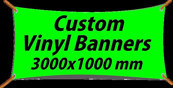 Custom PVC Vinyl Banner 3000x1000mm