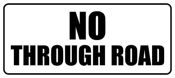 No Through Road Metal Sign 500x225mm