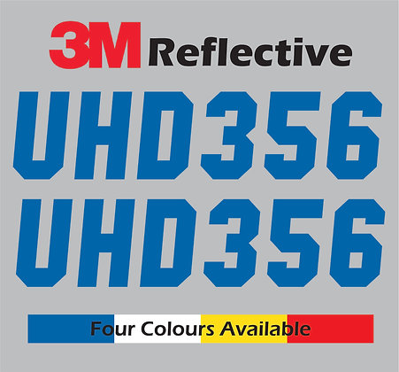 Custom Boat Rego REFLECTIVE Sticker, Registration Decal