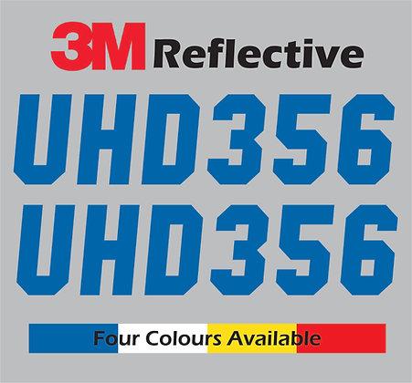 Custom Boat Rego Reflective Sticker