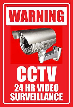 CCTV 24 Hrs Viceo Surveillance Metal Sign 300x450