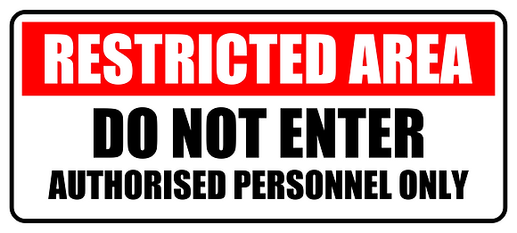 Restricted Area Do Not Enter Metal Sign 500x225mm