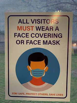 All Visitors Must Wear A Mask Sticker, Sign Decal