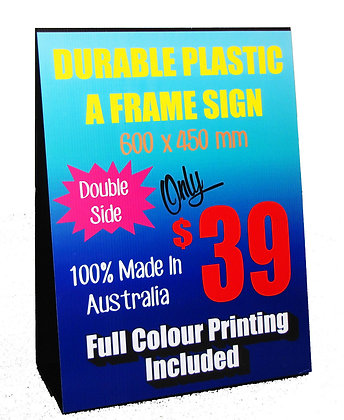 Plastic A-Frame Sign 600x450mm