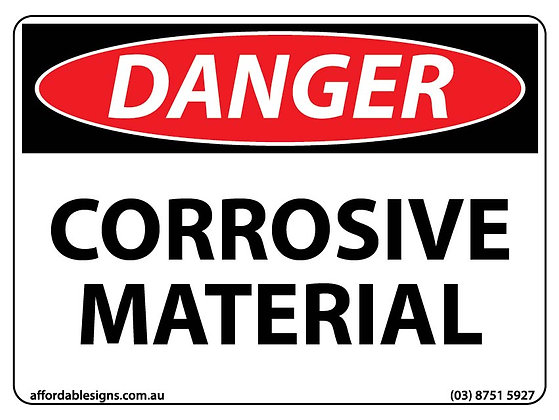Danger Corrosive Material