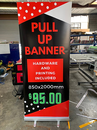 Pull Up Roll Up Banner 850x2000mm
