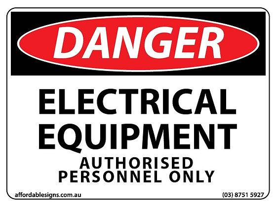 Danger Electrical Equipment