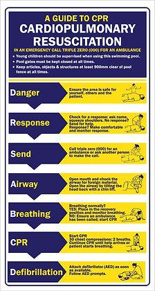 CPR Resuscitation Sign DRSABCD Swimming Pool