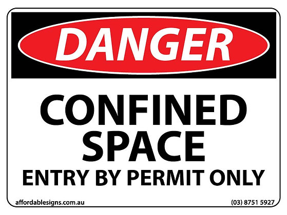 Danger Confined Space Permit Only