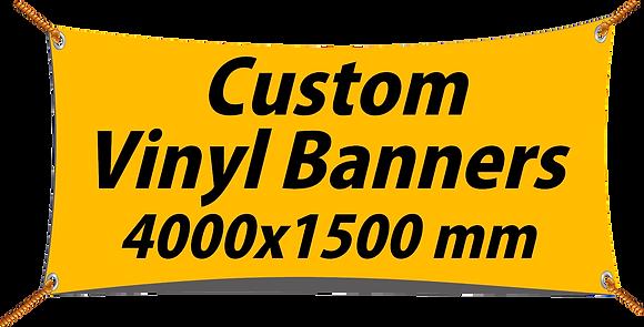 Custom PVC Vinyl Banner 4000x1500mm