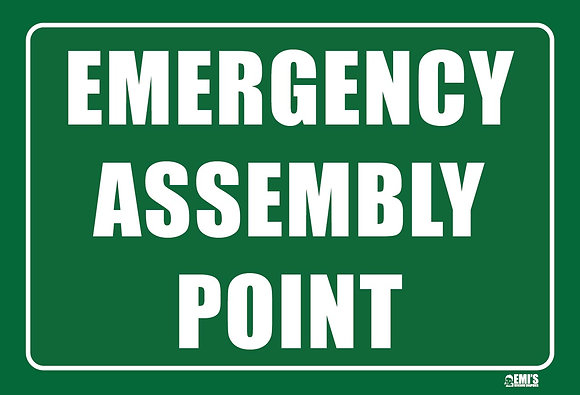 Emergency Assembly Point Metal Sign 450x300mm