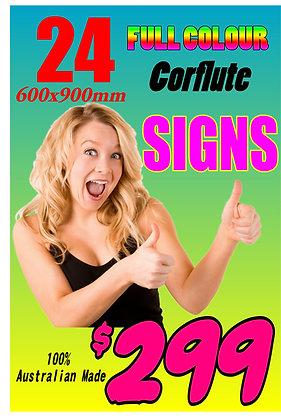 (24) Twenty Four Corflute Signs 900x600mm