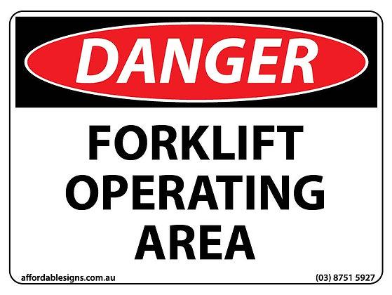 Danger Forklift Operating Area