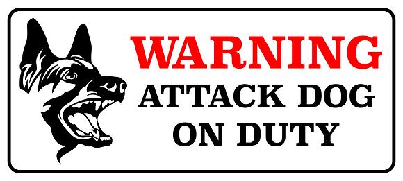 Warning Bad Guard Dog Metal Sign 500x225mm