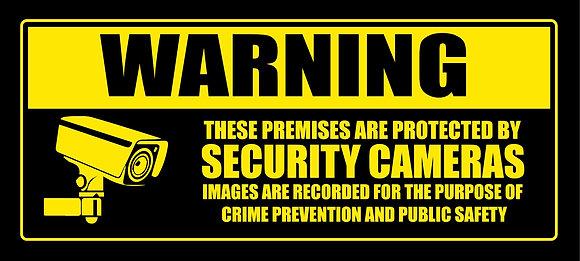 Video Surveillance CCTV Metal Sign 500x225 mm