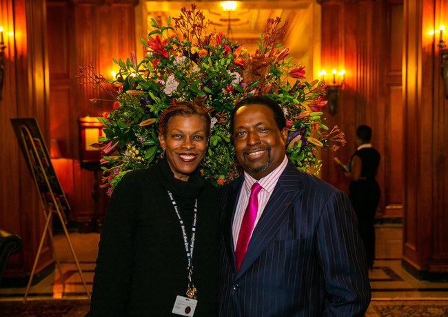 Rochelle riley poses with Edgar Vann