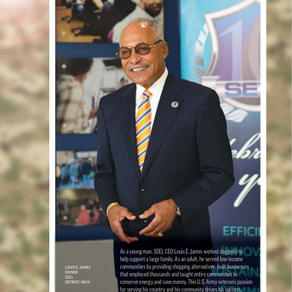 Army Vet and Veteran Businessman Louis E. James, CEO  SEEL, LLC, Featured in Energy Smarts Magazine
