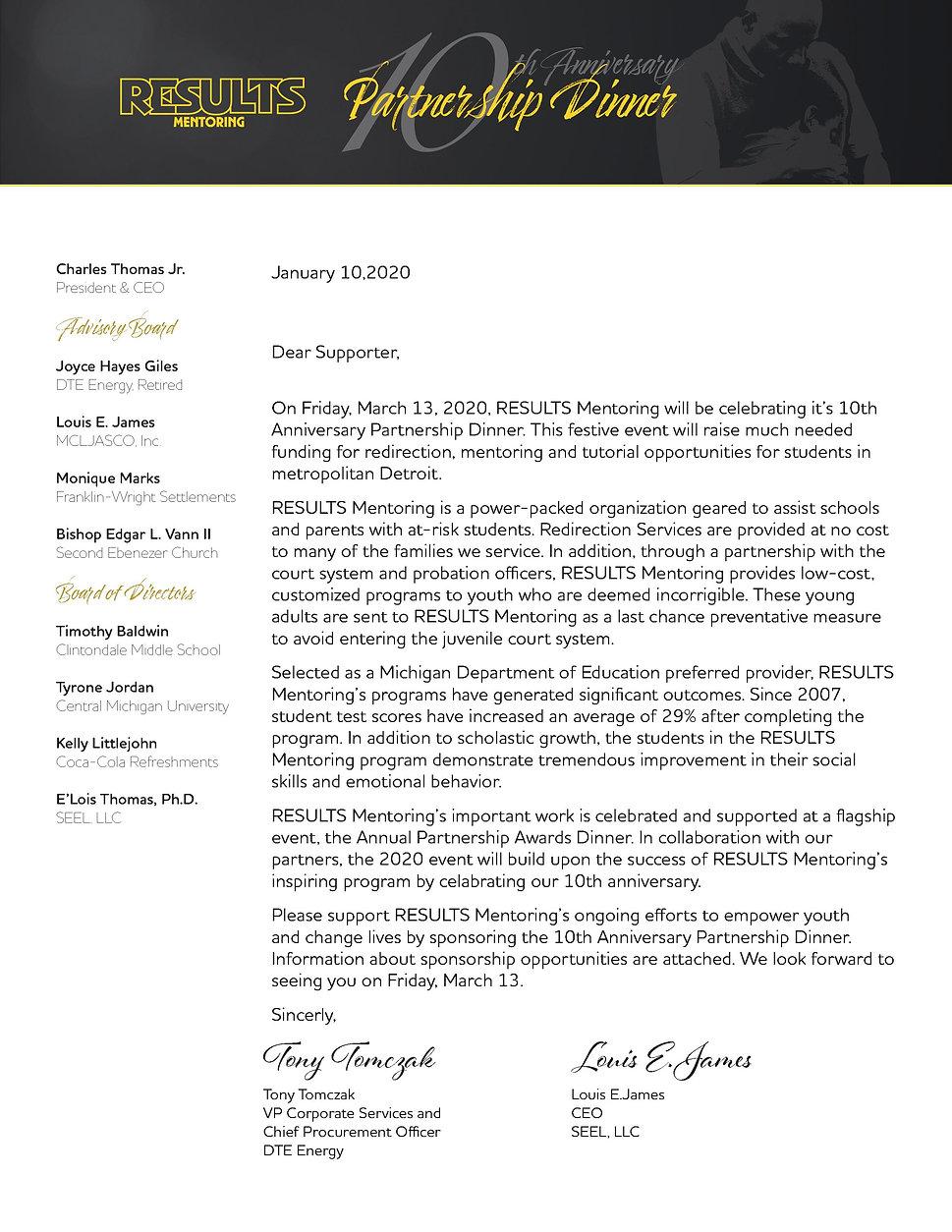 Results Mentoring Sponsorship Packet 202