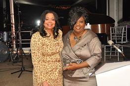 Karla Hall and Dr. E'Lois Thomas