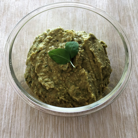 Basil & Garlic Pesto Dip (Nut Free) - A Family Recipe