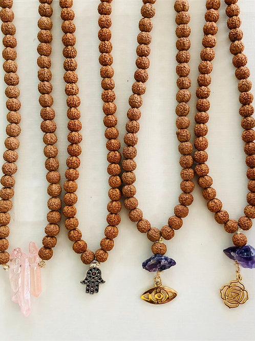 Rudraksha Mala Necklace ~ Meditation Beads