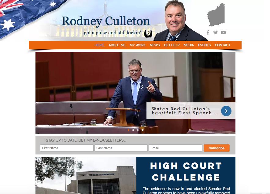 Culleton website