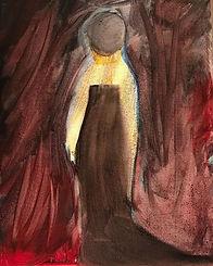 """Walking Away"" #abstract #acrylicpaintin"