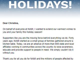 Happy Holidays From NAMI