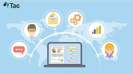 imagem-com-ilustração-de-um-notebook-interligado-de-varios-fatores-que-ajudaram-a-fidelizar-os-hospedes