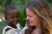 Aylin at Montesorr Kindergarten with child